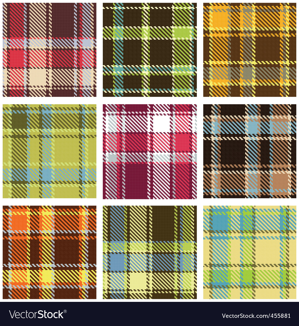 Checkered pattern vector
