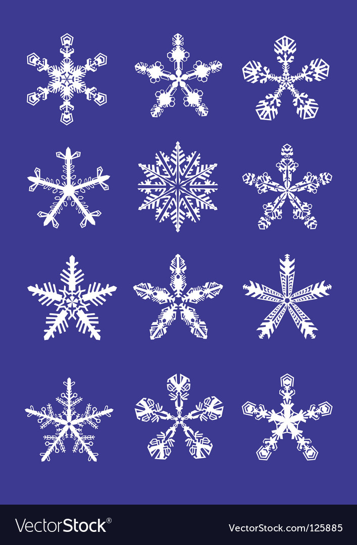 Ice crystal with round center vector icon - Nature icons - Icons ...