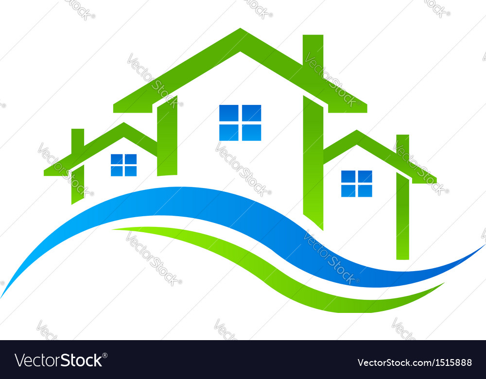 Houses real estate logo vector