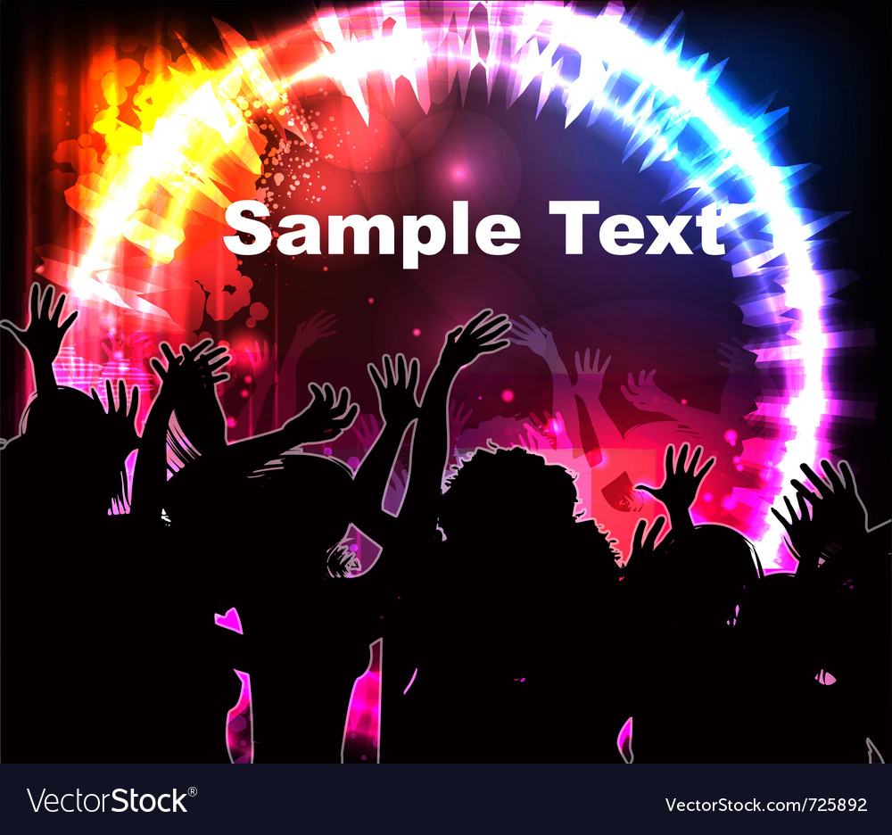 Disco party background vector