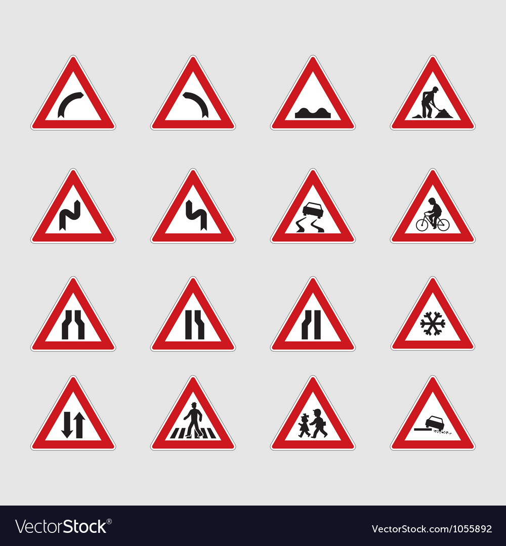 Street signs vector