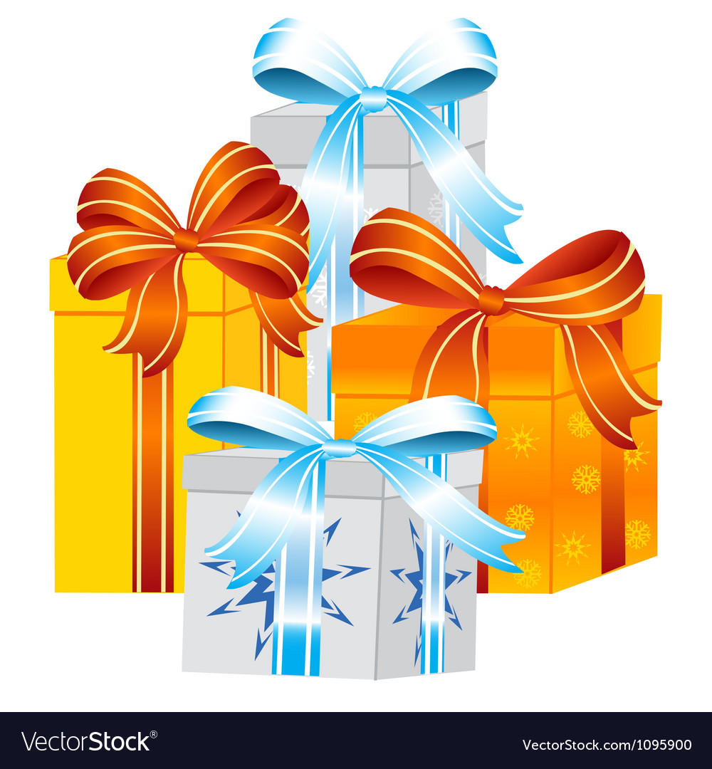 Gift to holiday vector