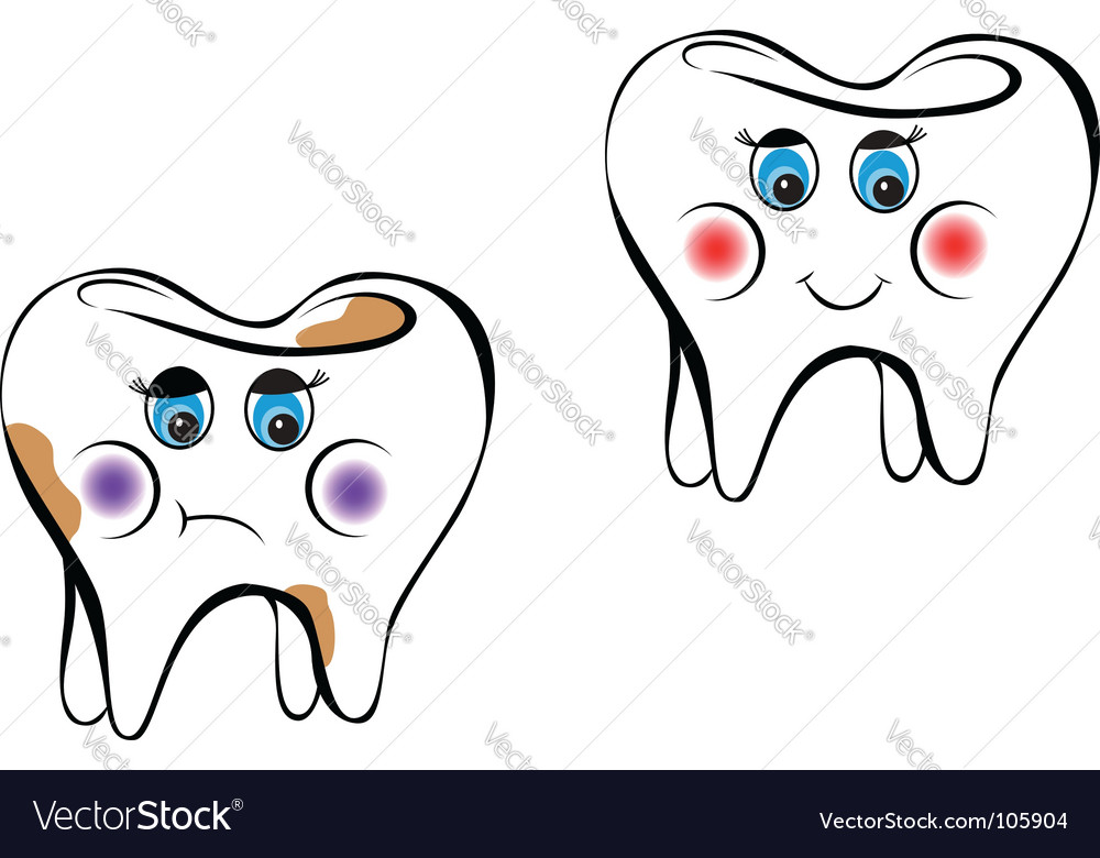 White tooth vector