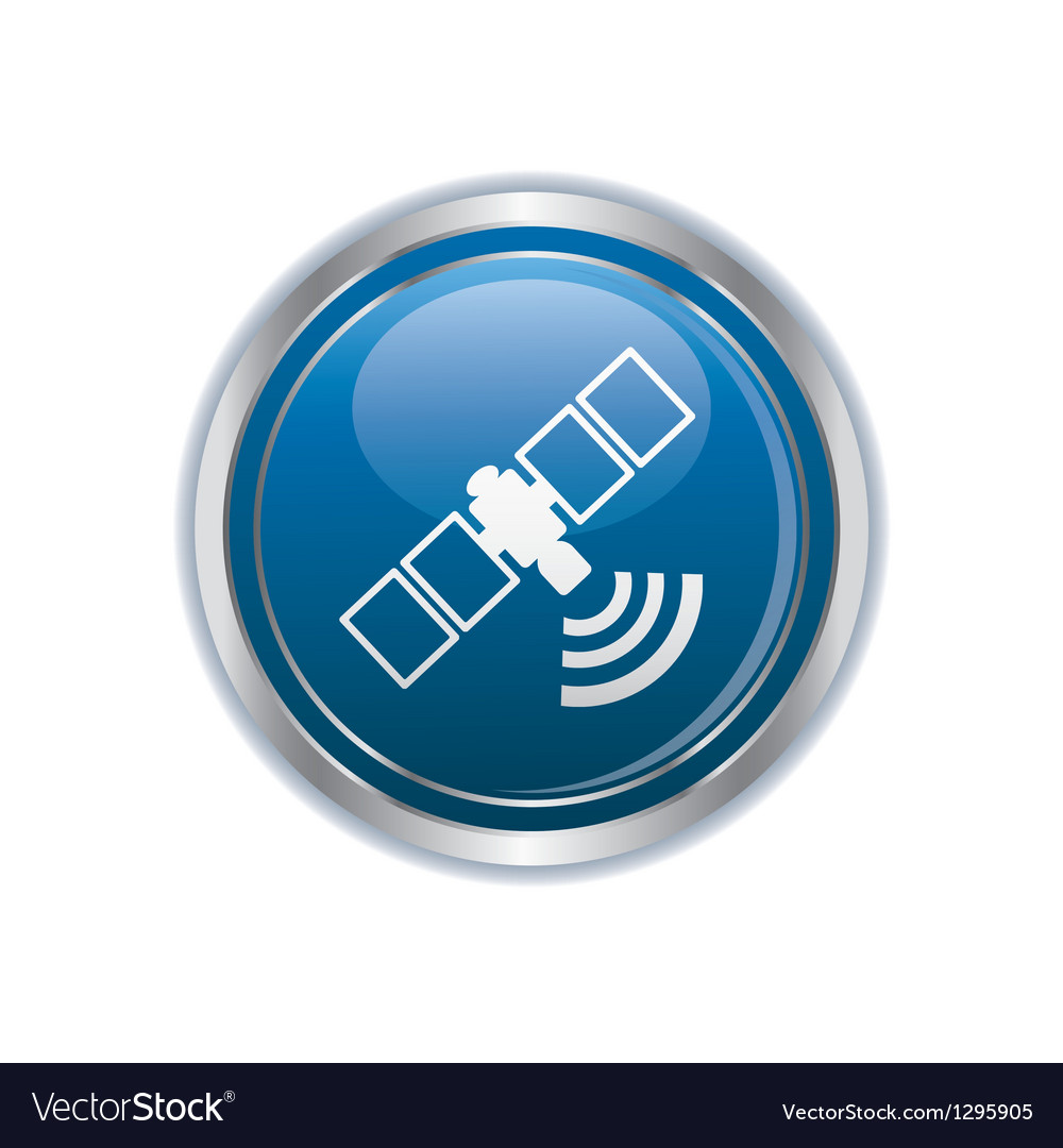 Communication satellite icon vector