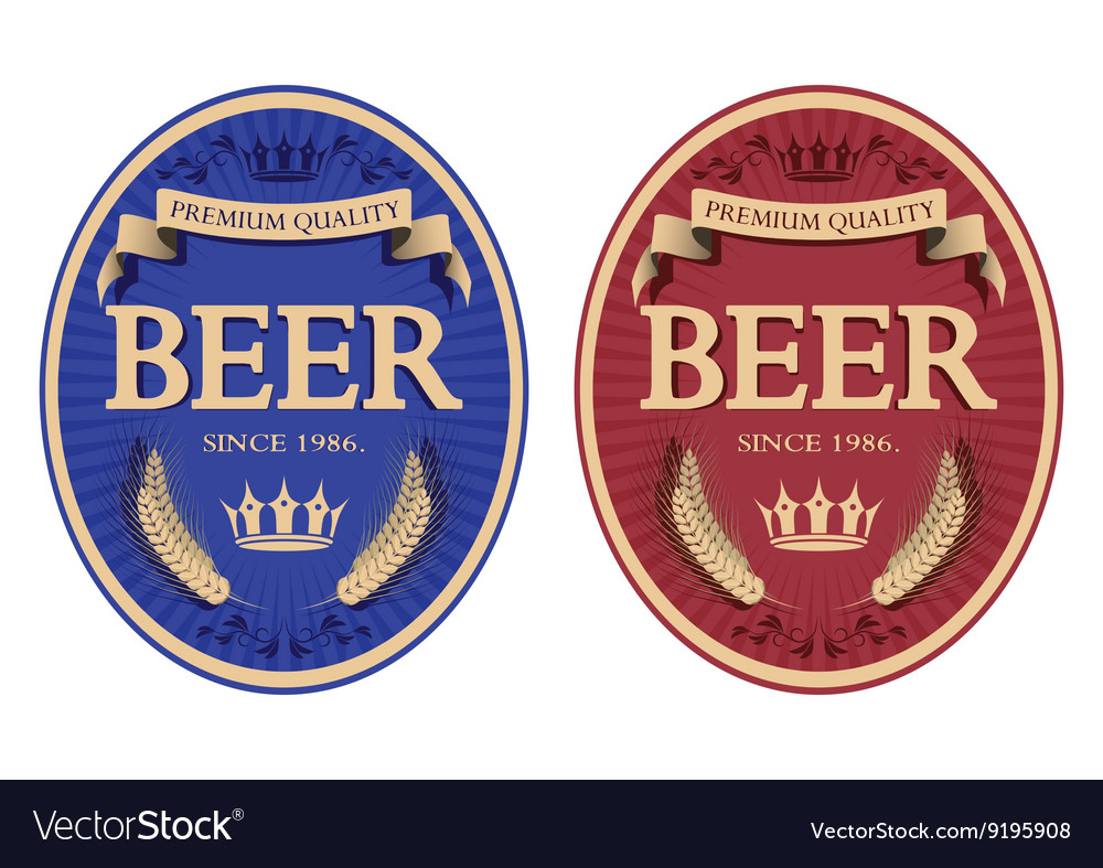 Blue and red beer label vector by FlavorDesign - Image #9195908 ...