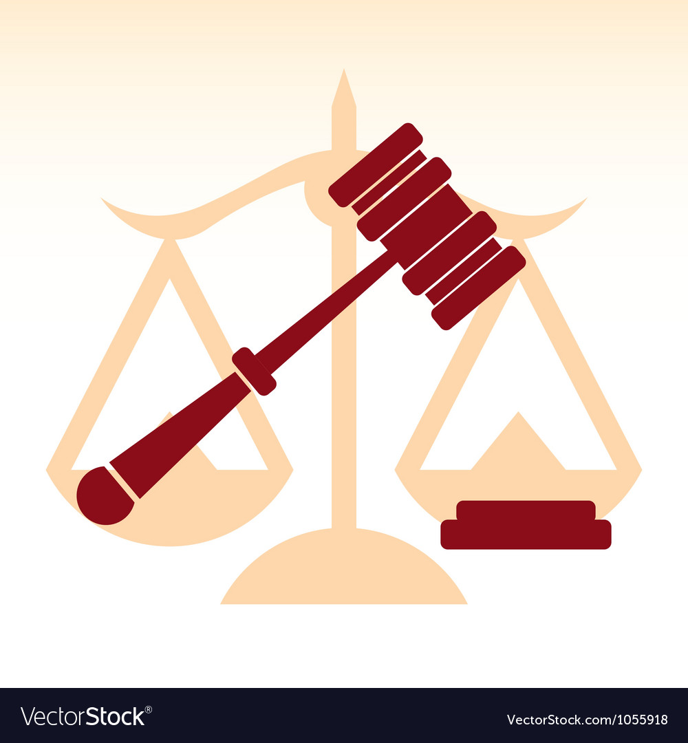 Scale of justice vector