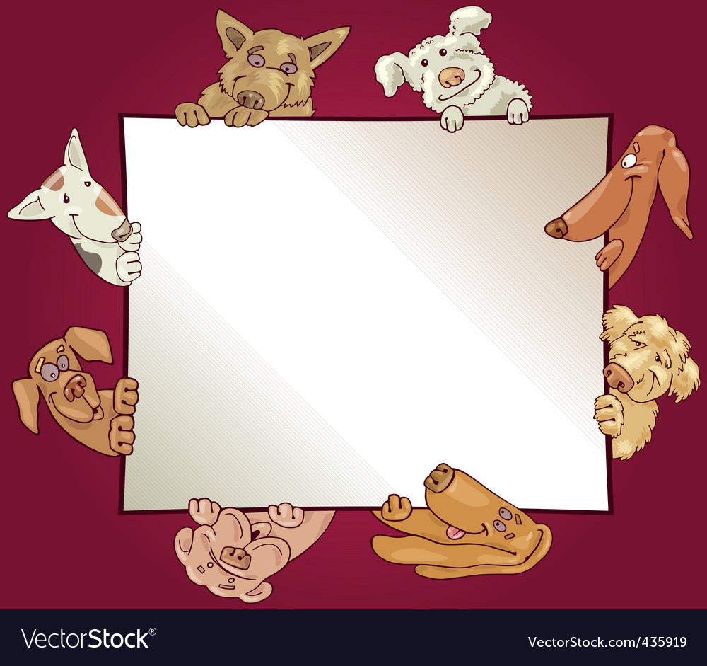Dog borders and frames - photo#13