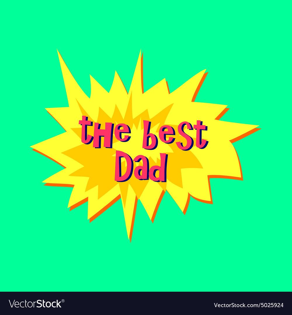 Happy fathers day sticker