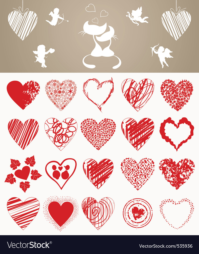 Valentines day hearts vector