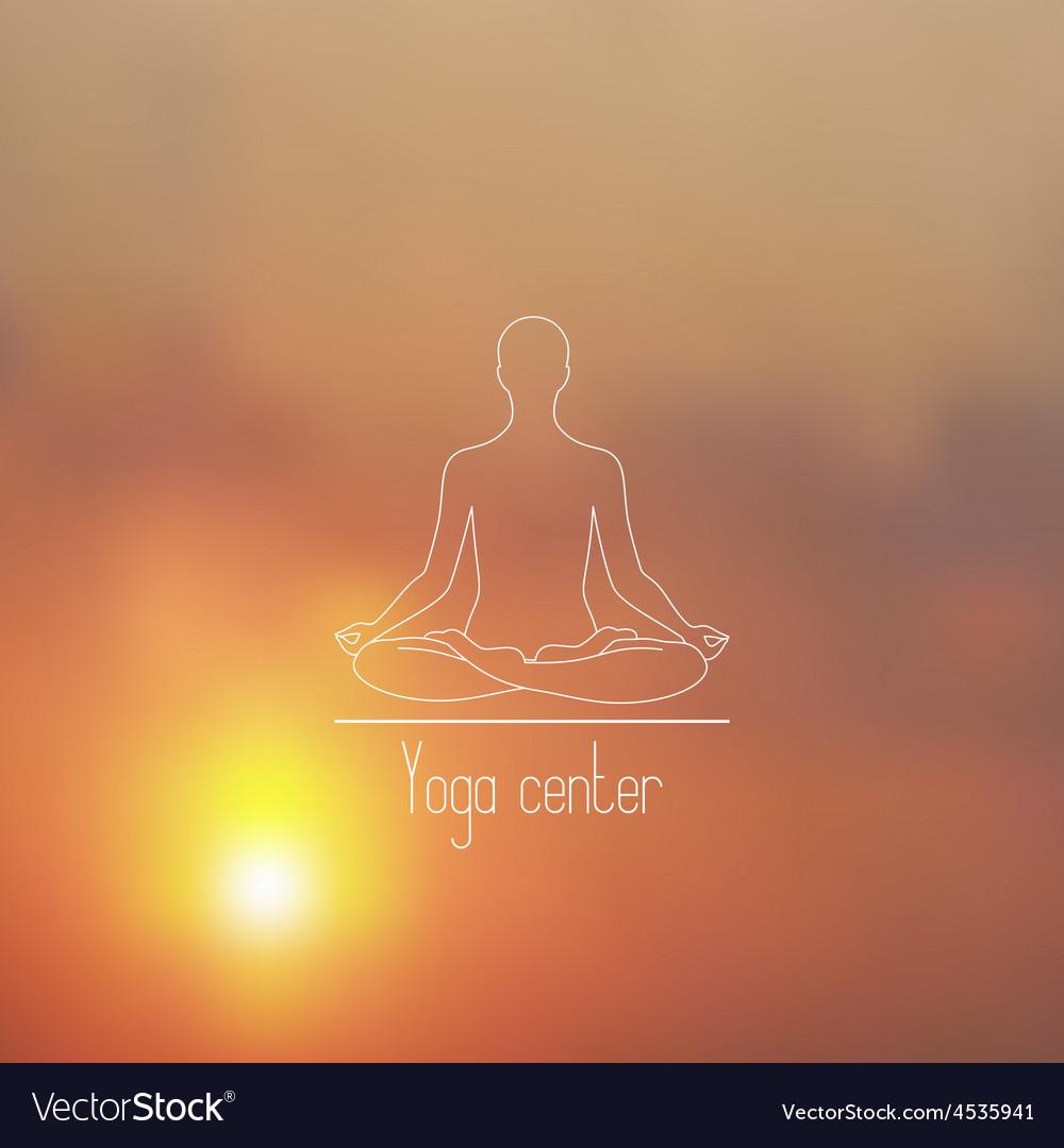 Yoga center line logo