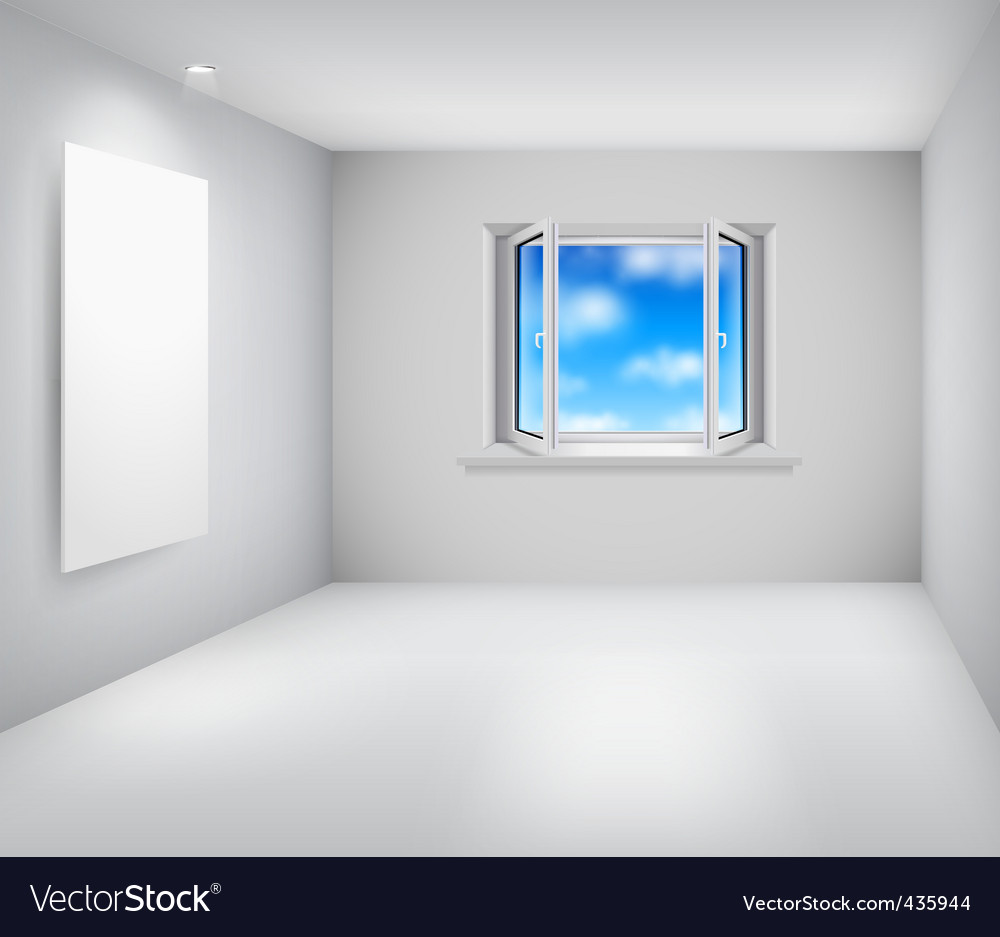 Room and window vector