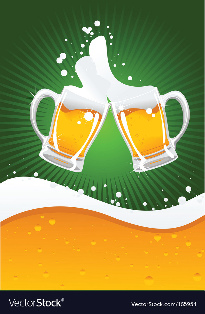 Two beer mugs vector
