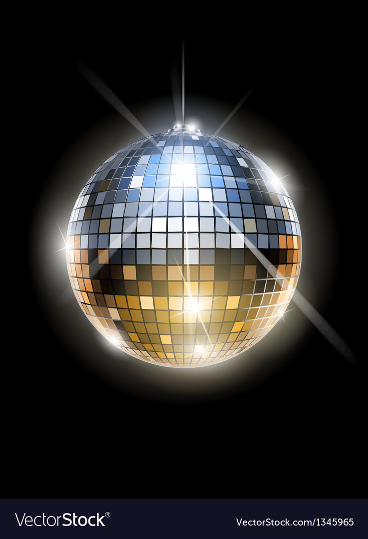 Mirror disco ball vector
