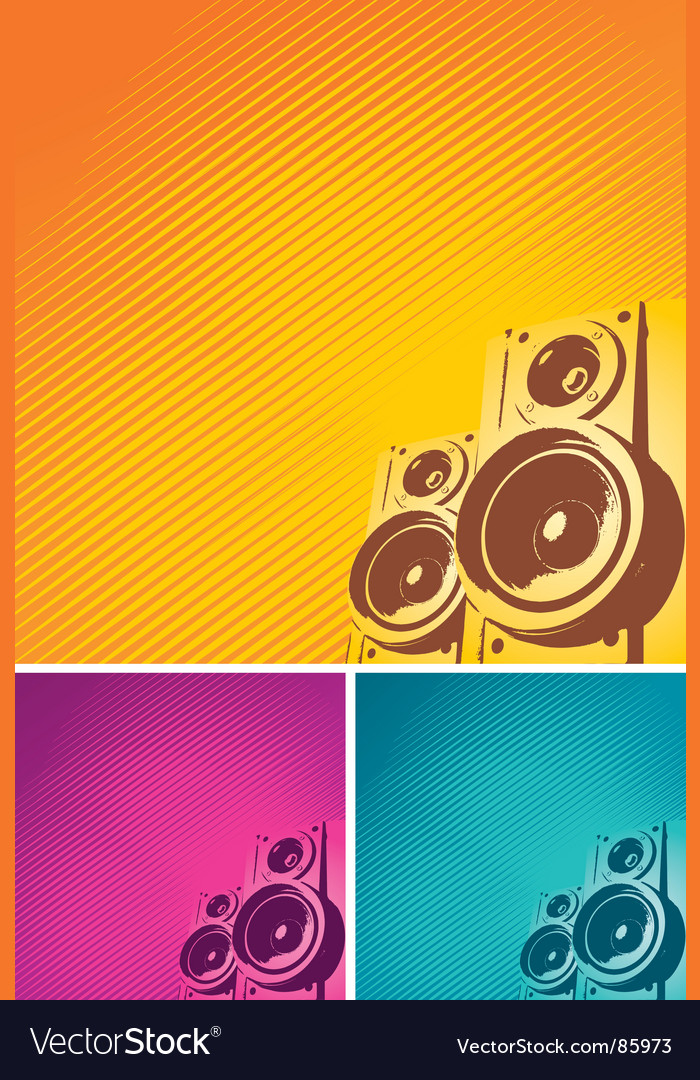 Loudspeakers vector