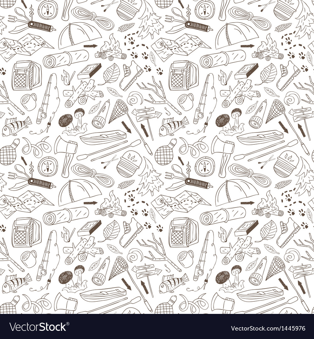 Camping  seamless background vector