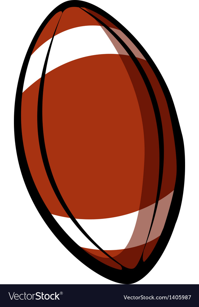 A rugby ball vector