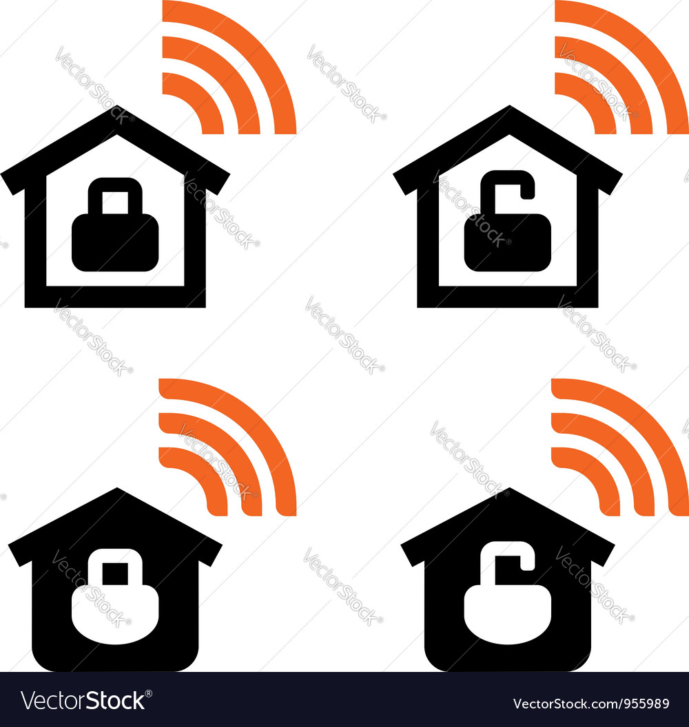 Home wifi signs vector