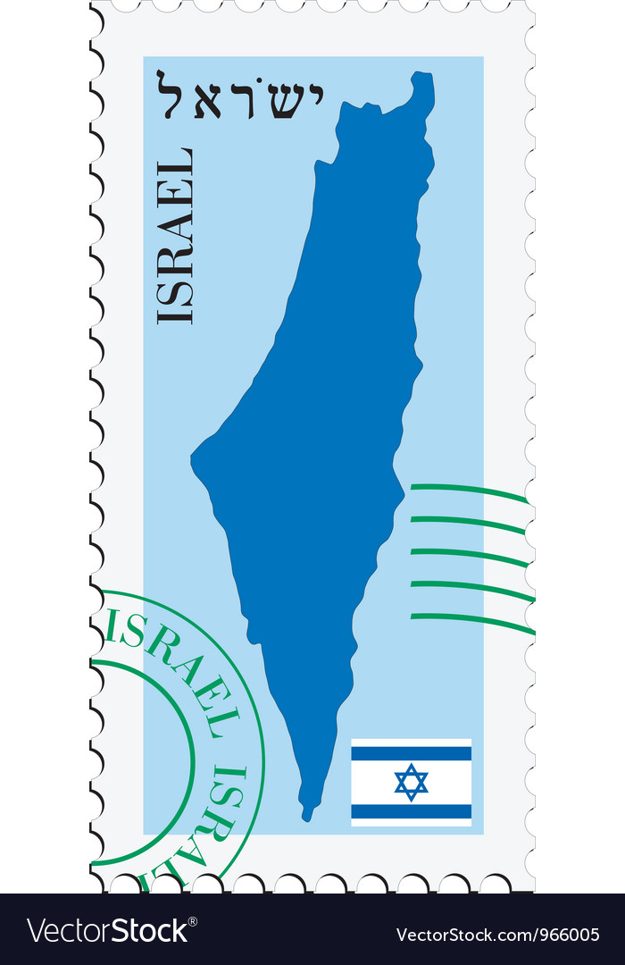Mail tofrom israel vector