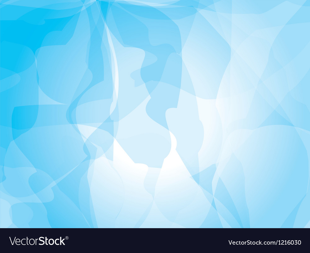Blue background watercolor painting vector