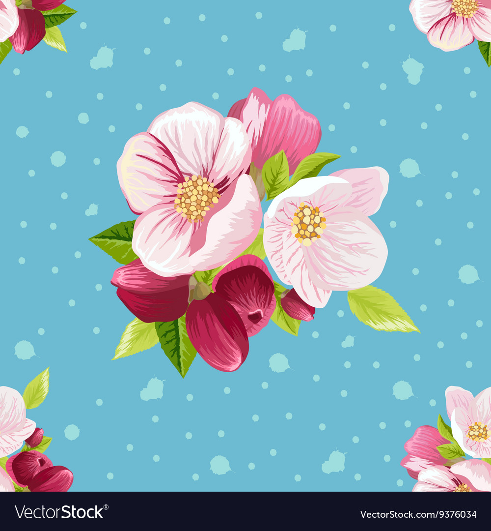 Beautiful pattern with flowers vector