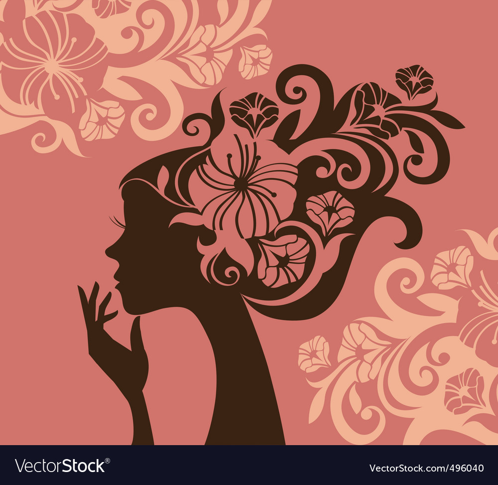 Womans silhouette vector