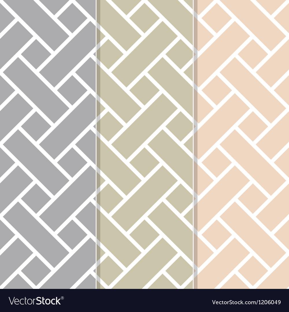 Seamless basket weave background pattern vector