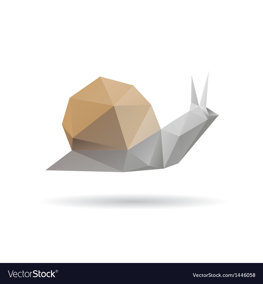 Snail abstract isolated on a white backgrounds vector