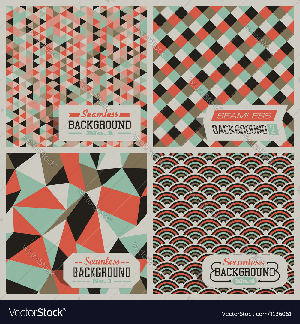 Retrostyled seamless patterns vector