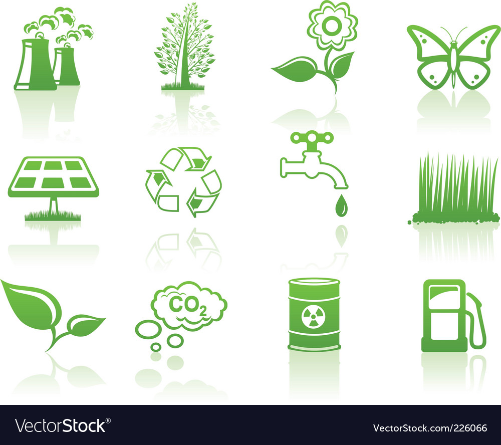 Environment icons vector