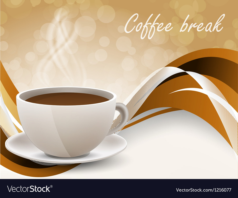 Background with coffe cup vector