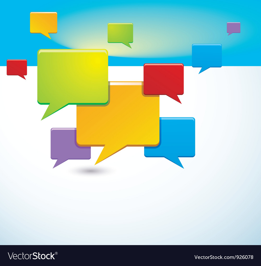 Background with speech bubbles vector