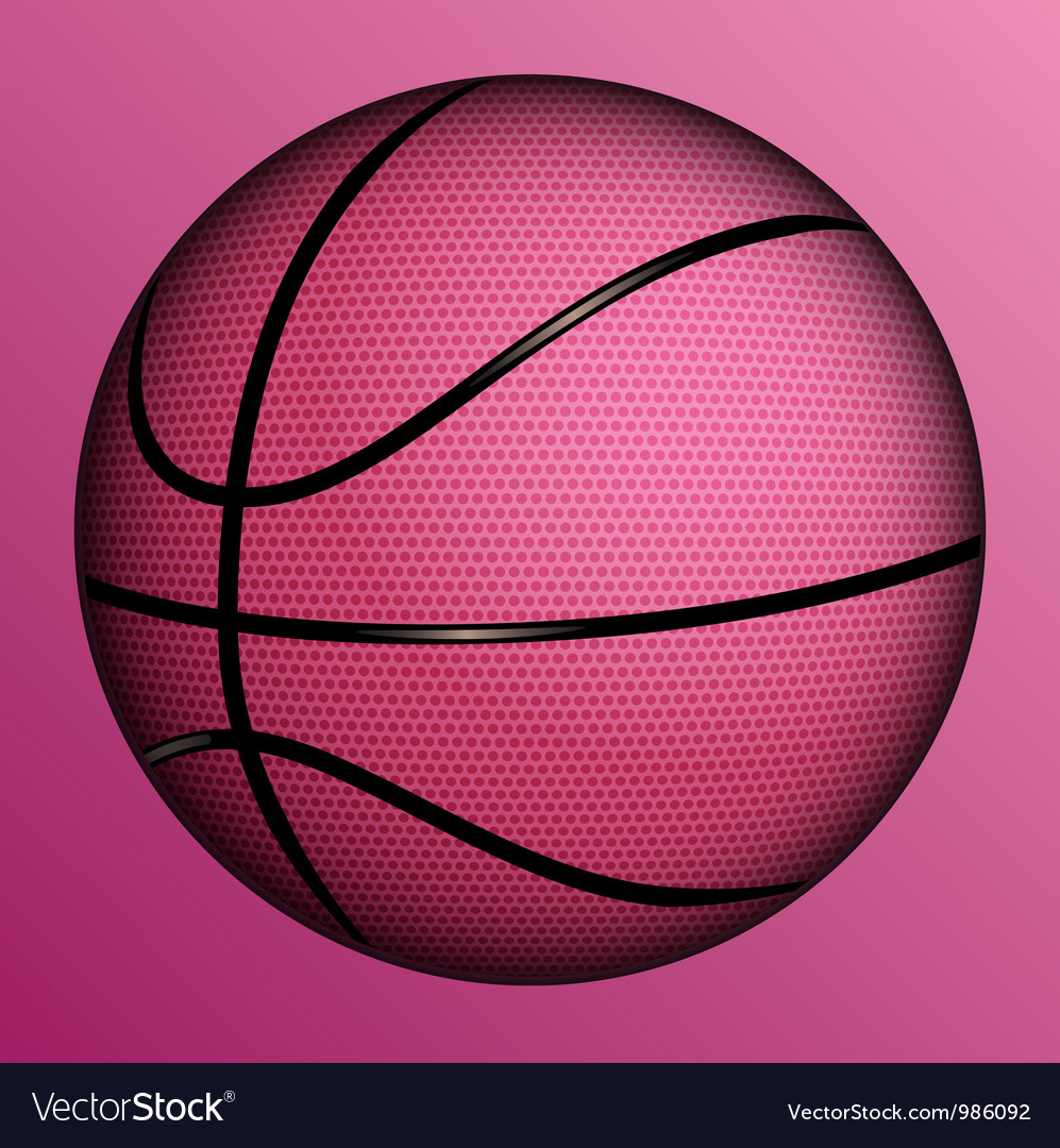 Realistic basketball ball vector
