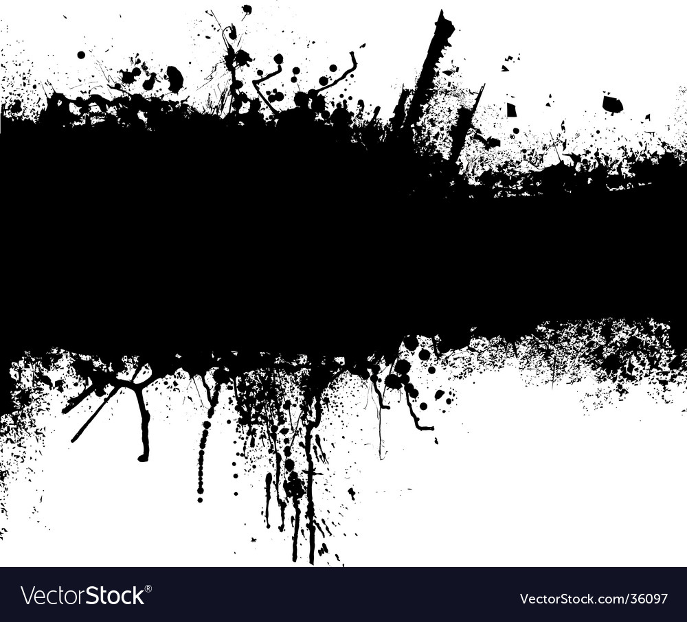 Grunge black strip vector