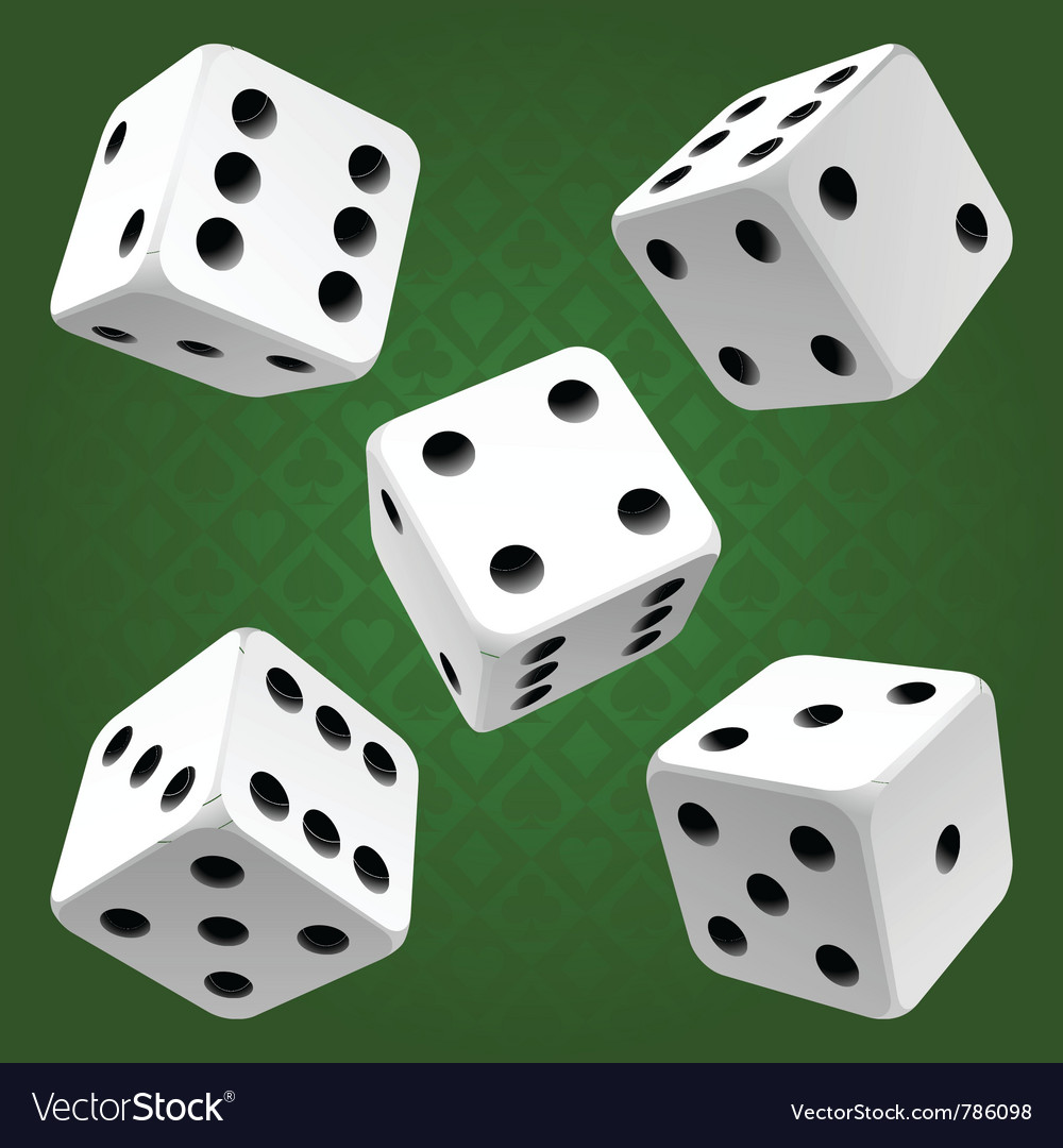 White rolling dice set icon vector