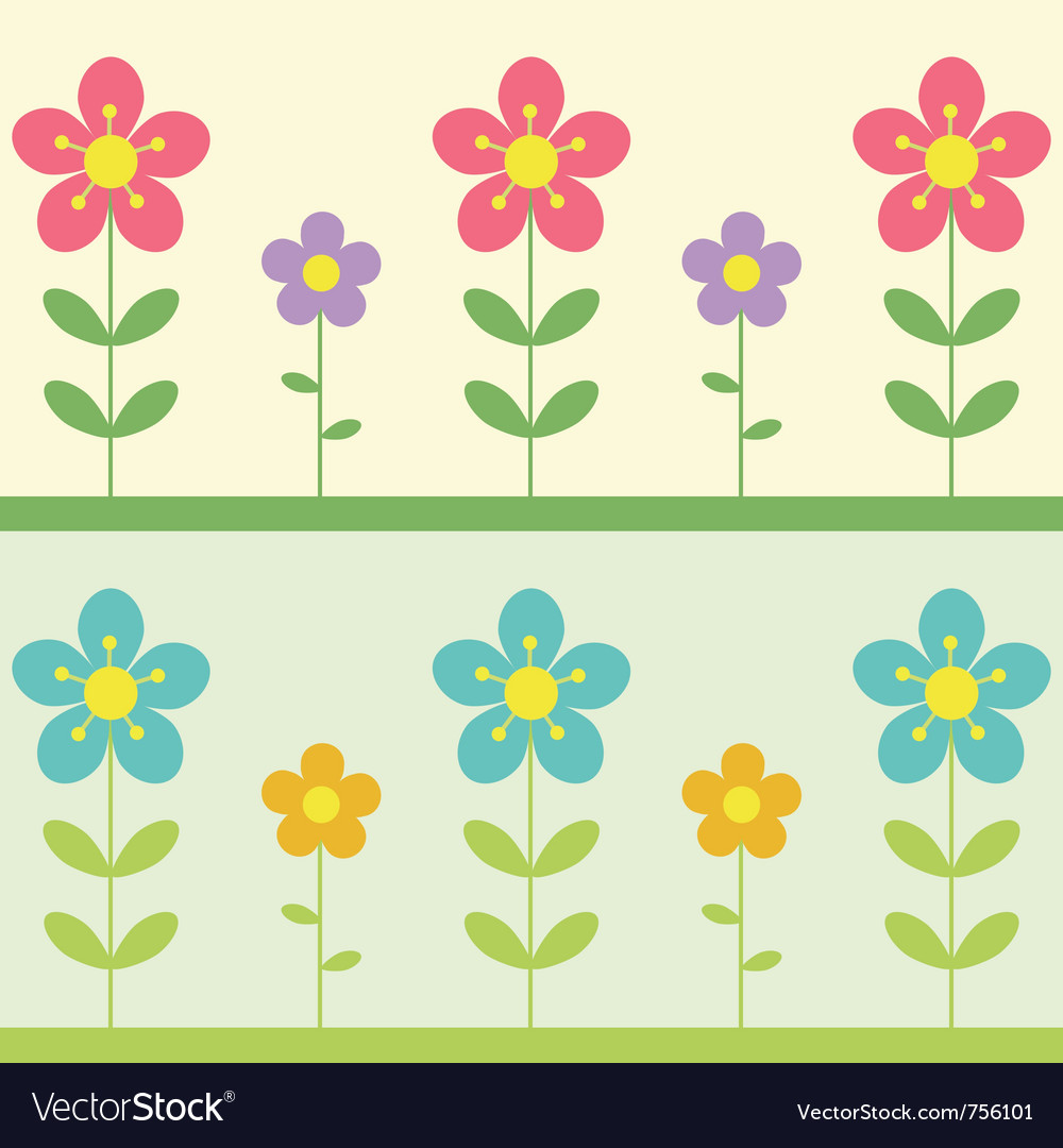 Two flowers background vector