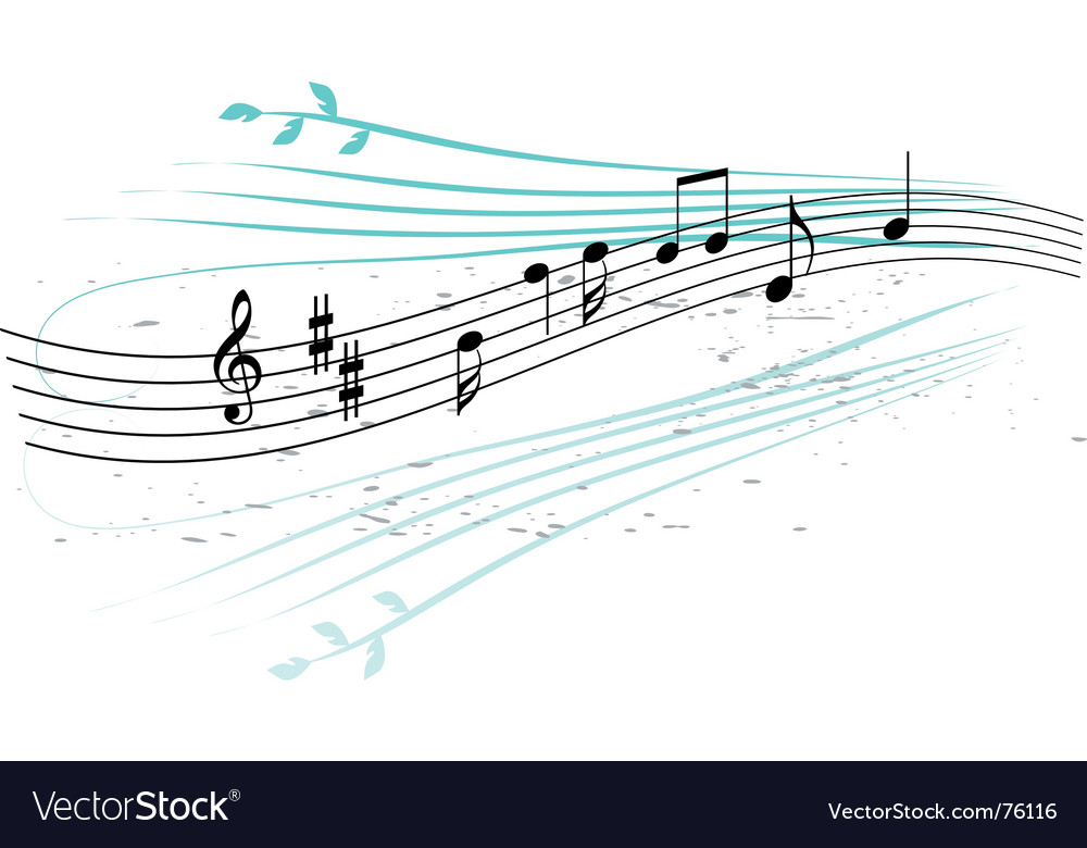 Abstract background music vector