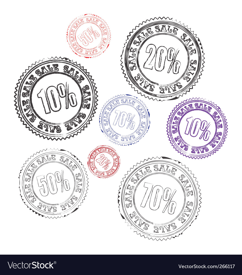 Stamps sale vector