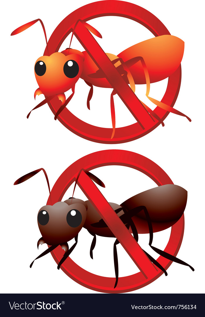 Dead ants sign vector