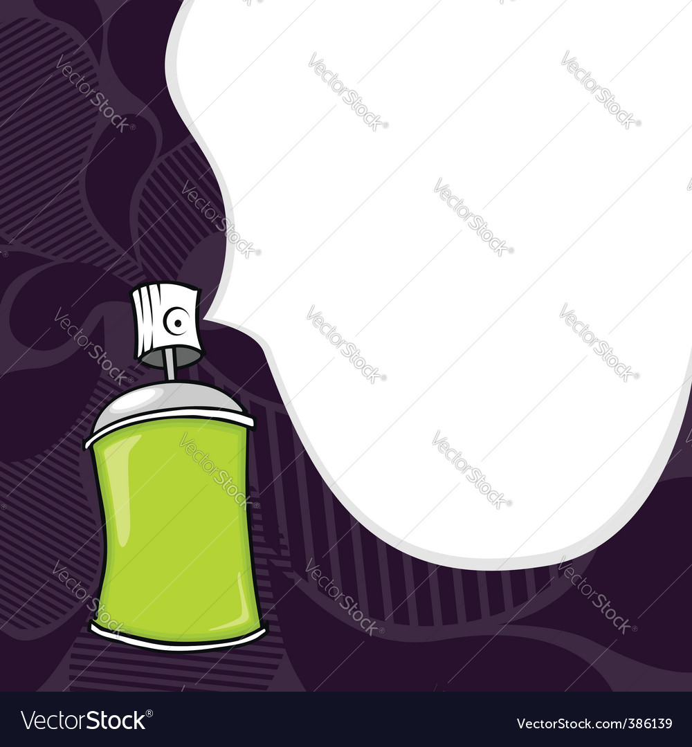 Graffiti spray can vector