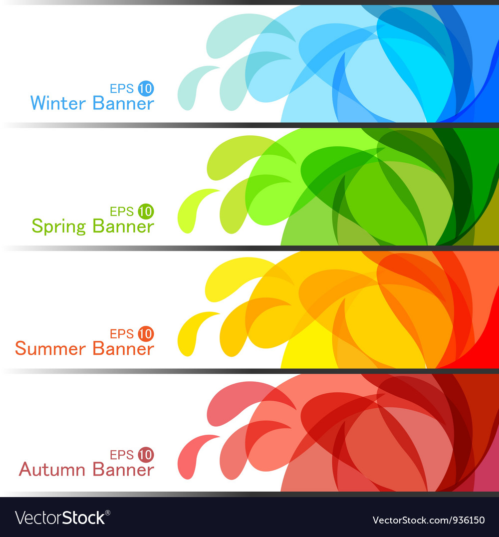 Set of season banners vector