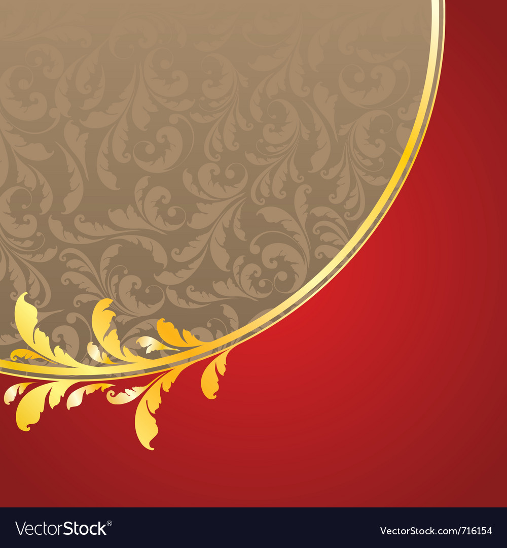 Decorated golden pattern vector