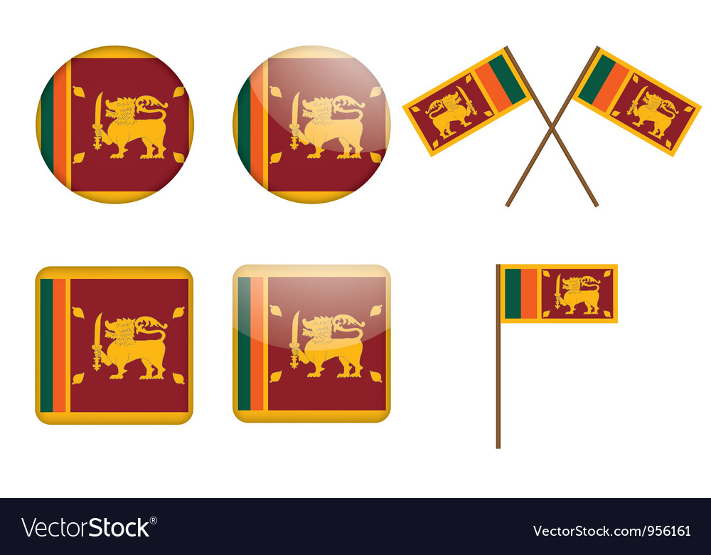 Badges with flag of sri lanka vector
