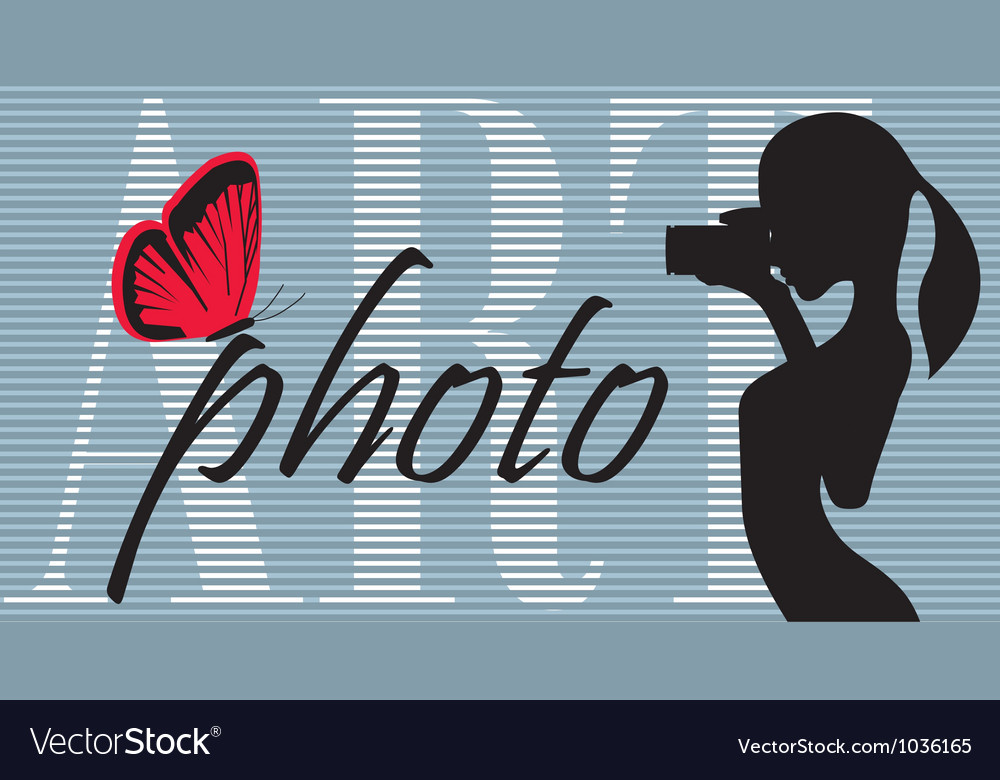 Photographic art background vector