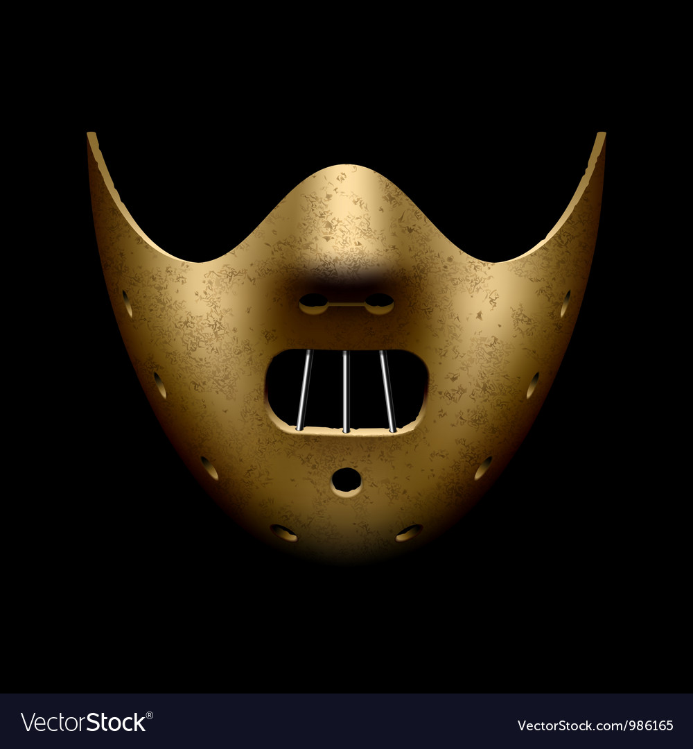 Scary halloween mask vector