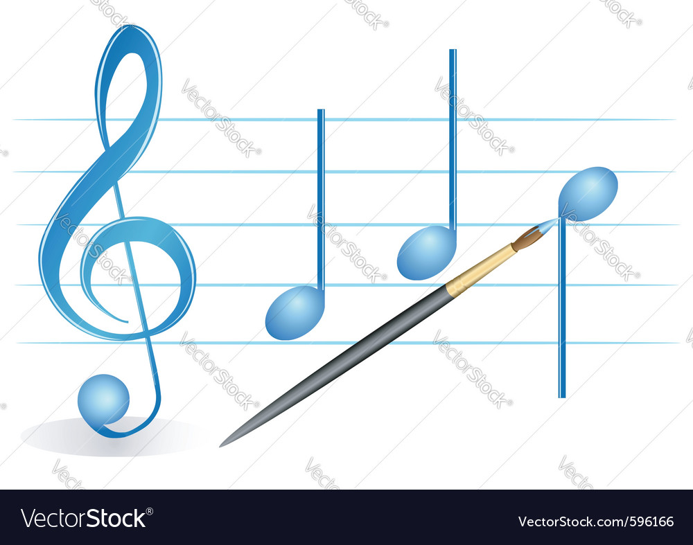 Brush treble clef vector