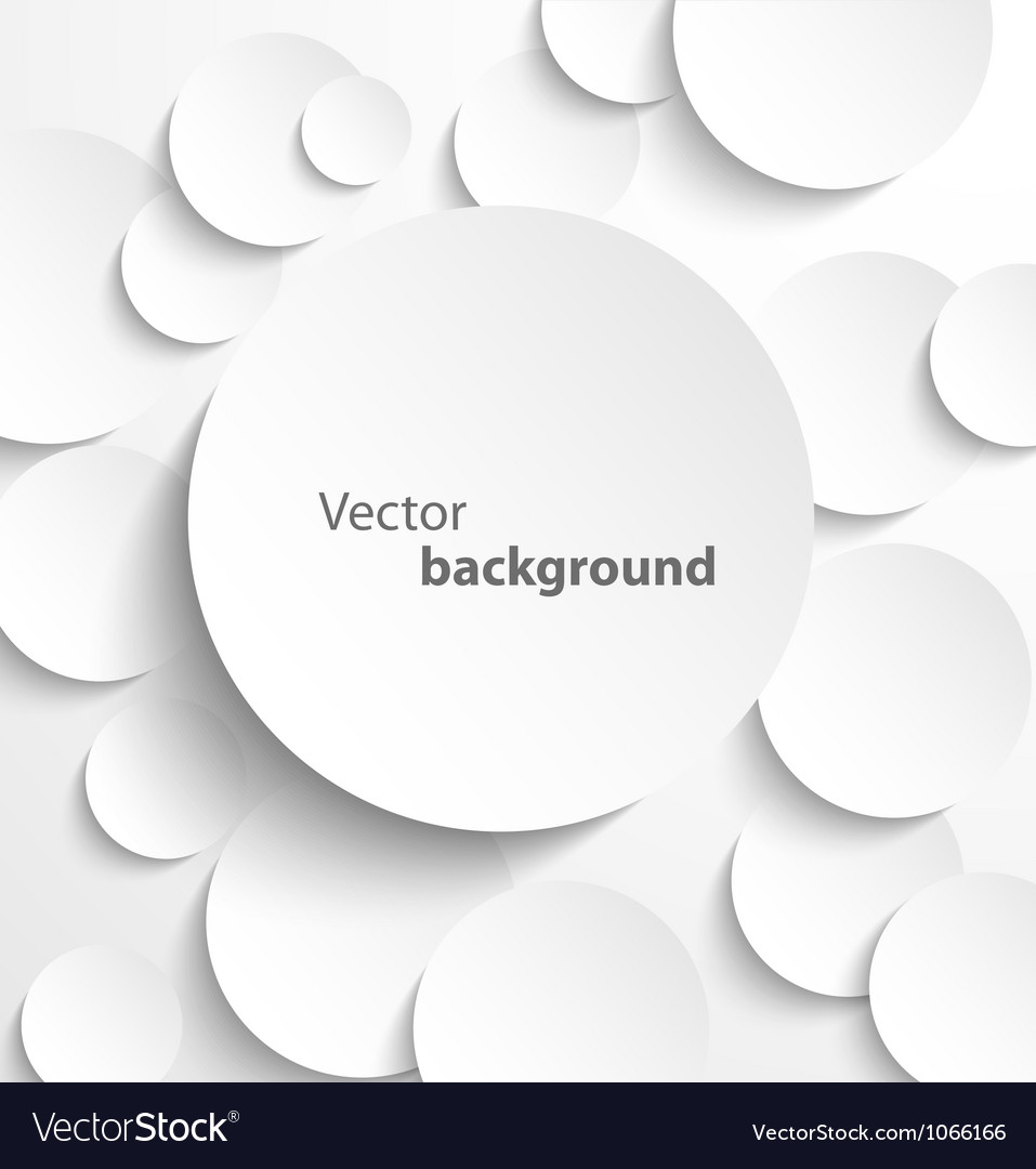 Paper circles with drop shadows vector