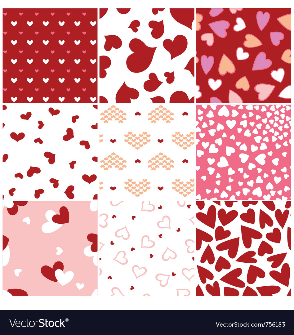 Fashion heart seamless pattern vector