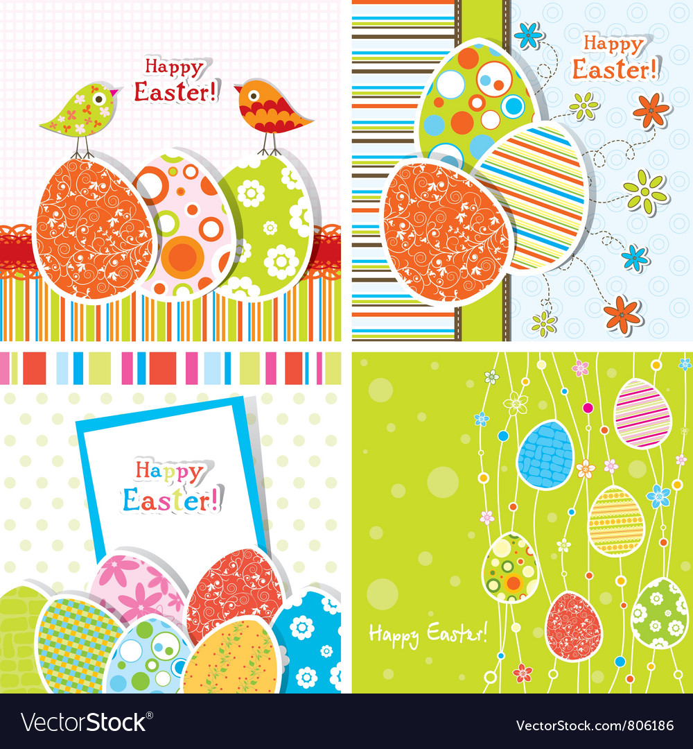 Template easter greeting vector