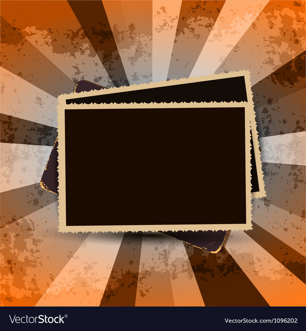 Vintage photo frames vector