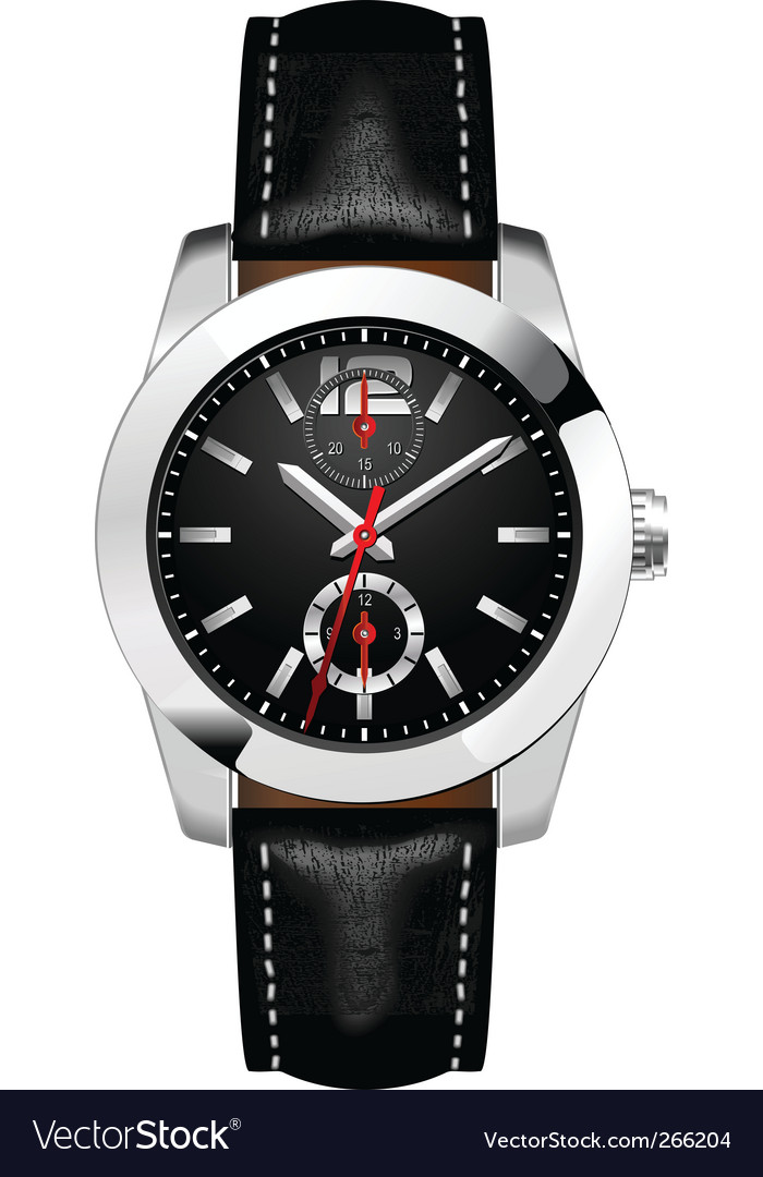Businessmans watch vector